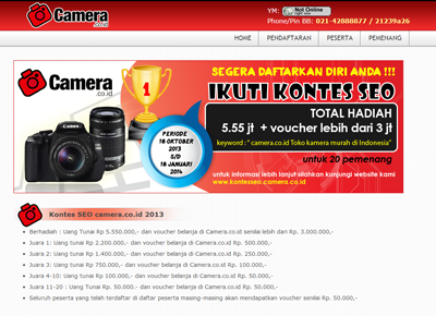 Kontes SEO Camera.co.id